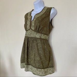Sonoma Tops - SONOMA LIFESTYLE Green Sleeveless Top, Size M
